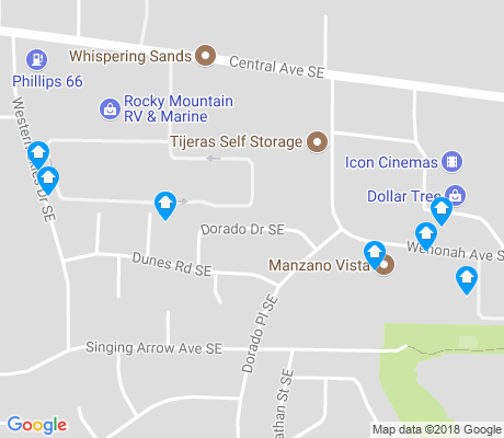 map of Singing Arrow apartments for rent
