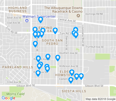 map of South San Pedro apartments for rent