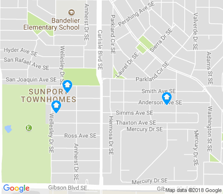 map of Southeast Heights apartments for rent