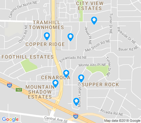 map of Supper Rock apartments for rent
