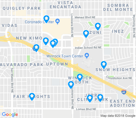map of Uptown apartments for rent