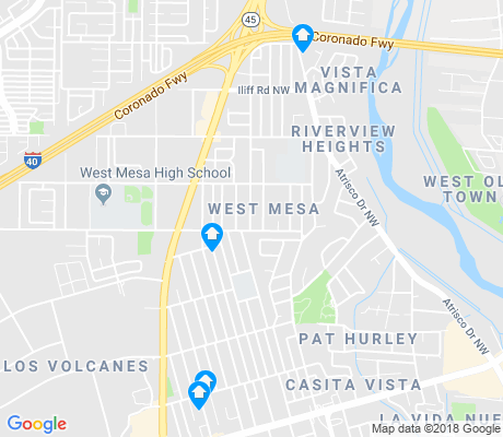 map of West Mesa apartments for rent