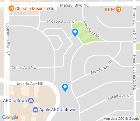 map of Zuni apartments for rent