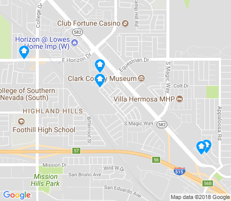 map of Highland Hills apartments for rent