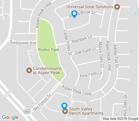 map of South Valley Ranch apartments for rent