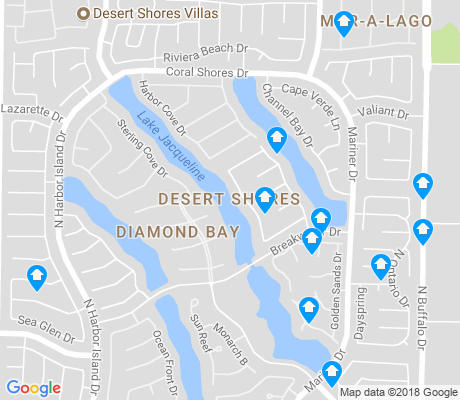 map of Desert Shores apartments for rent