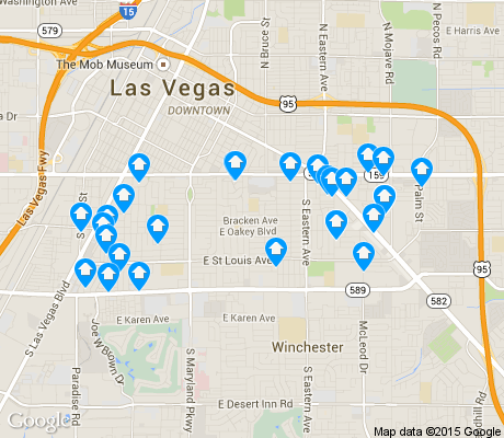 map of Huntridge apartments for rent