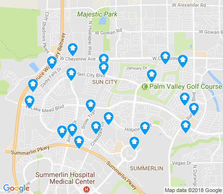 map of Sun City Summerlin apartments for rent