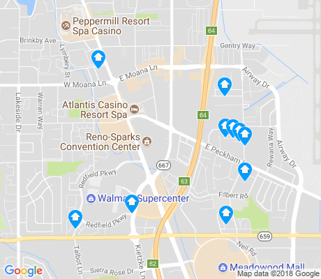 map of Convention Center apartments for rent