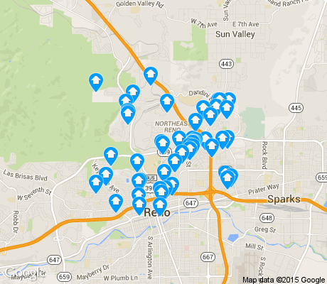 map of Northeast apartments for rent