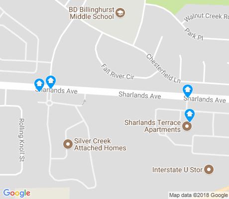 map of Sharlands apartments for rent