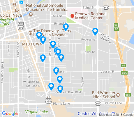 map of Wells Avenue Neighborhood apartments for rent