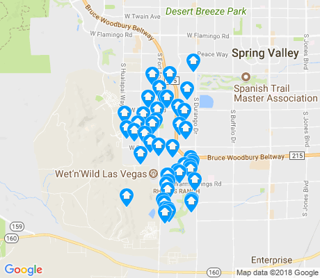 map of Rhodes Ranch apartments for rent
