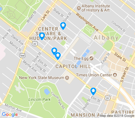 map of Capitol Hill apartments for rent