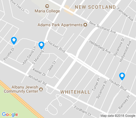 map of Whitehall apartments for rent
