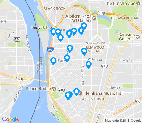 map of 14213 apartments for rent