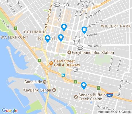 map of Central Business District apartments for rent