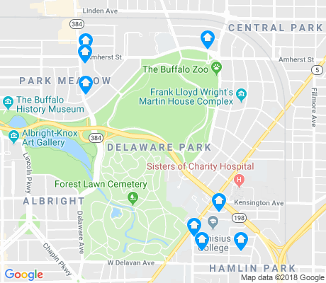 map of Delaware Park apartments for rent