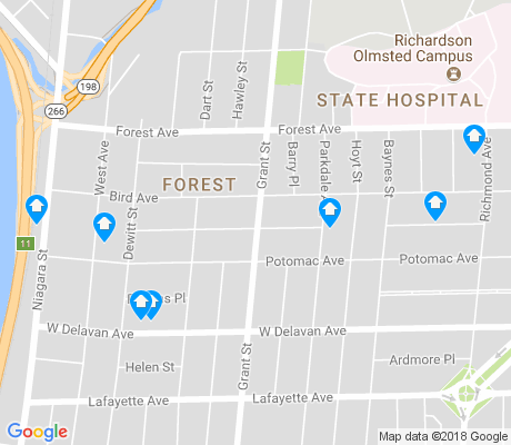 map of Forest apartments for rent