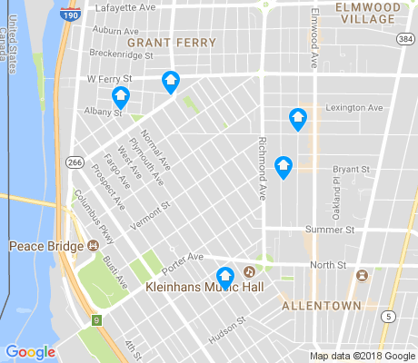 map of Front Park apartments for rent