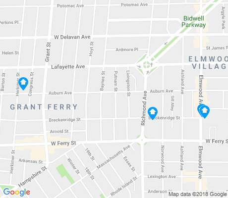map of Grant Ferry apartments for rent