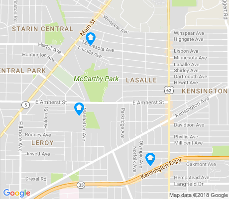 map of LaSalle apartments for rent