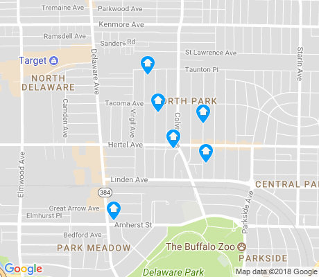 map of North Park apartments for rent