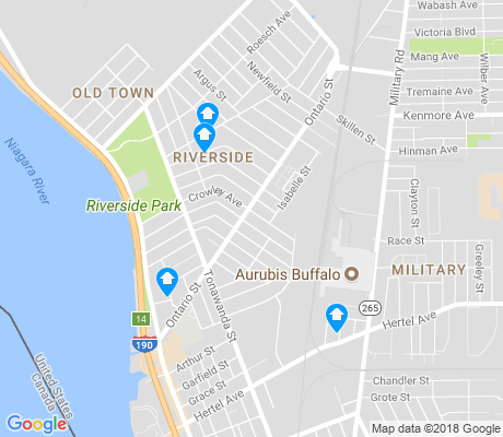 map of Riverside Park apartments for rent