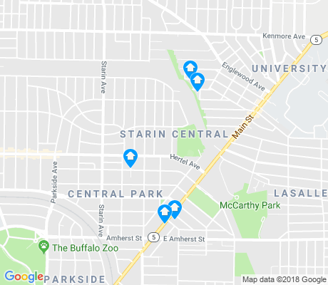 map of Starin Central apartments for rent