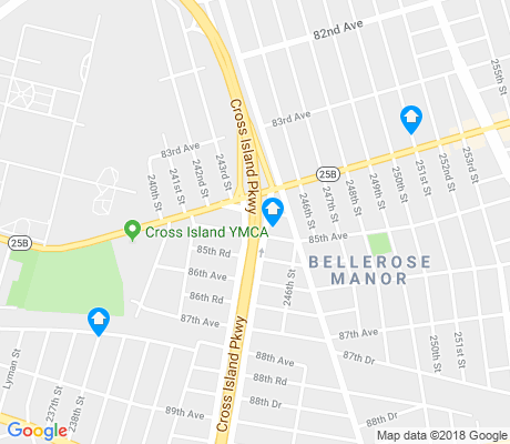 map of Bellerose apartments for rent