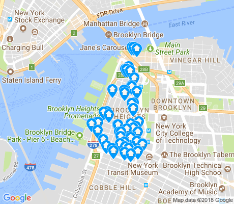 map of Brooklyn Heights apartments for rent