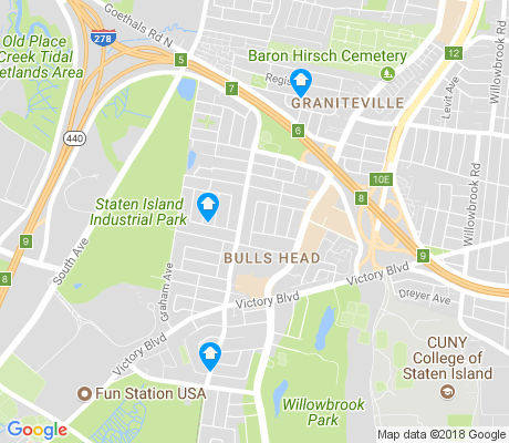 map of Bulls Head apartments for rent