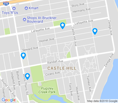 map of Castle Hill apartments for rent