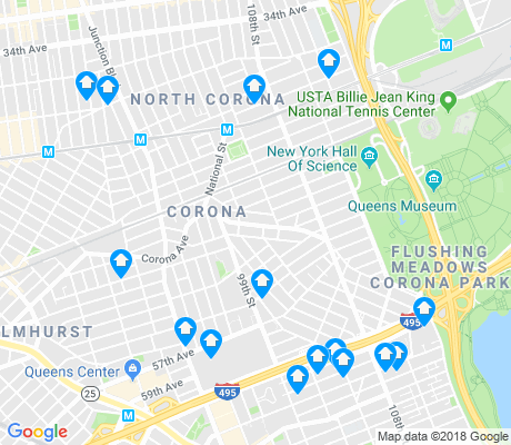 map of Corona apartments for rent