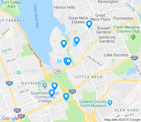 map of Douglaston apartments for rent