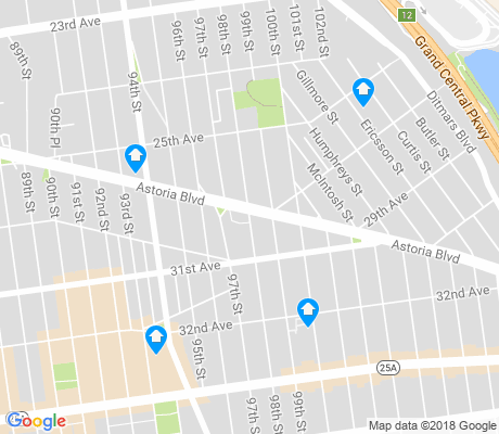 map of East Elmhurst apartments for rent