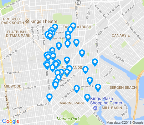 map of Flatlands apartments for rent