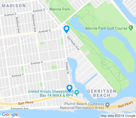 map of Gerritsen Beach apartments for rent