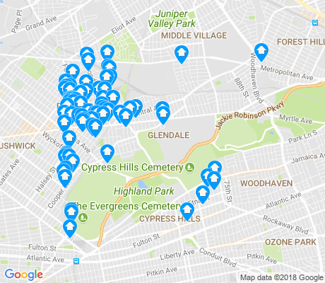 map of Glendale apartments for rent