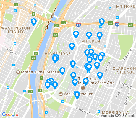 map of Highbridge apartments for rent