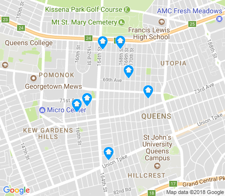map of Hillcrest apartments for rent