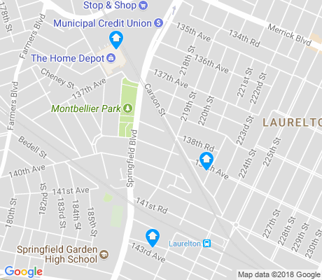 map of Laurelton apartments for rent