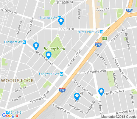 map of Longwood apartments for rent
