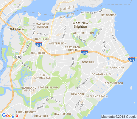 map of Manor Heights apartments for rent