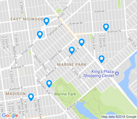 map of Marine Park apartments for rent