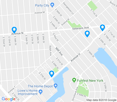 map of Mill Basin apartments for rent
