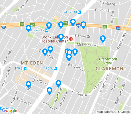 map of Mount Eden apartments for rent