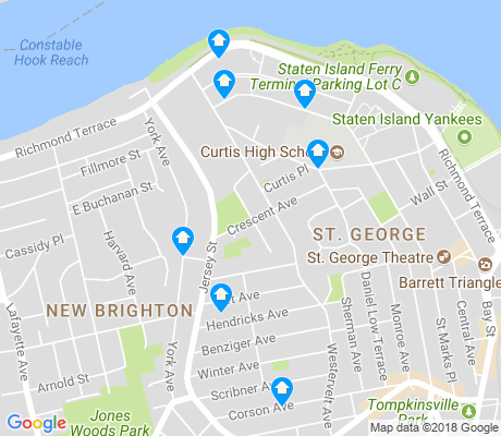 map of New Brighton apartments for rent