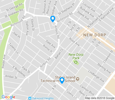 map of New Dorp apartments for rent