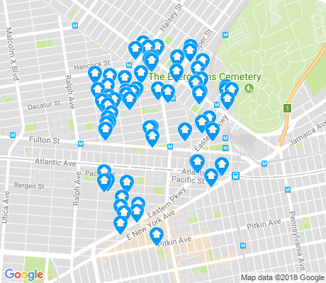 map of Ocean Hill apartments for rent